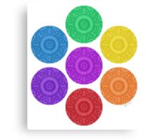 seven chakras circle Canvas Print