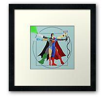 Da Vinci Superheroes Framed Print
