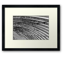 iron structure Framed Print