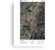 USGS Topo Map Washington State WA Chesaw 20110429 TM Canvas Print