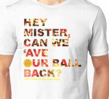 Hey Mister / White Unisex T-Shirt