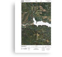 USGS Topo Map Washington State WA Mount Mitchell 20110511 TM Canvas Print