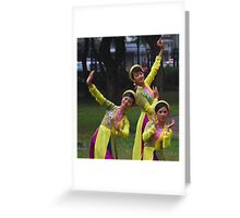 Dancers in a Hanoi park, Vietnam Greeting Card