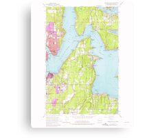 USGS Topo Map Washington State WA Bremerton East 240205 1953 24000 Canvas Print