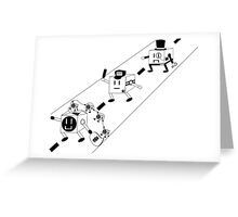 Cubes and Robbers Greeting Card