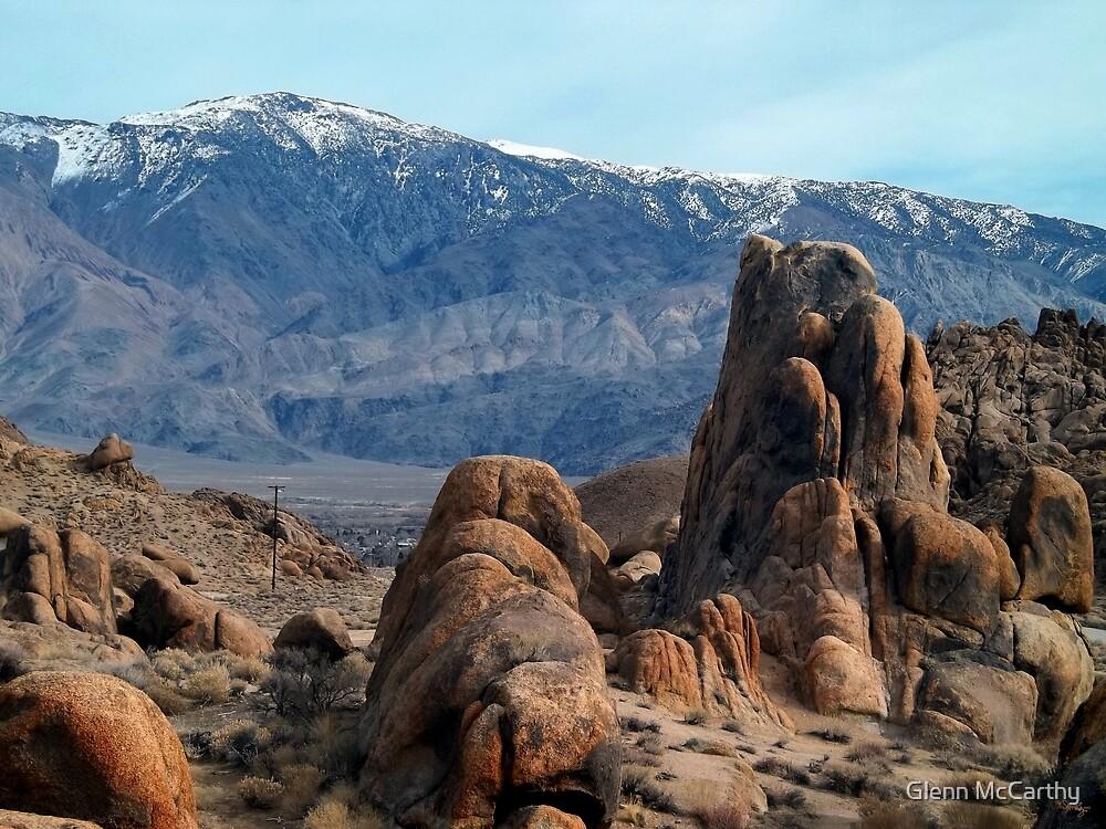 Across Owens Valley - U.S. Highway 395 California by Glenn McCarthy