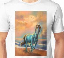 Running blue horse Unisex T-Shirt