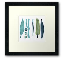 Sticks and Stones Framed Print