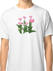 Circle of Pink Tulips Classic T-Shirt