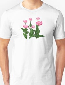 Circle of Pink Tulips Unisex T-Shirt