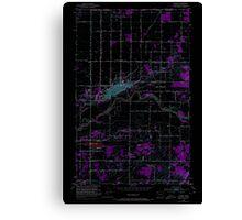 USGS Topo Map Washington State WA Lynden 242114 1952 24000 Inverted Canvas Print