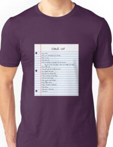 Million Dollar Check List Unisex T-Shirt