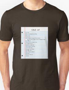 Million Dollar Check List T-Shirt