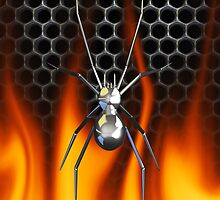 Chrome Black Widow and fire by Skatersollie