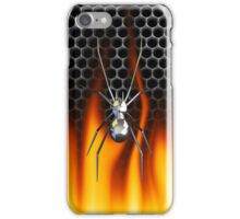 Chrome Black Widow and fire iPhone Case/Skin
