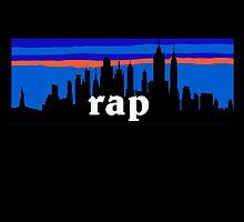 RAP MUSIC, NYC skyline silhouette by mustbtheweather