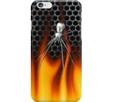 Chrome Black Widow and fire Design 3 iPhone Case/Skin