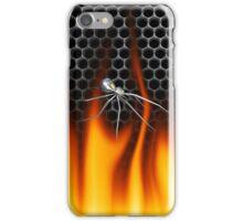 Chrome Black Widow and fire Design 4 iPhone Case/Skin