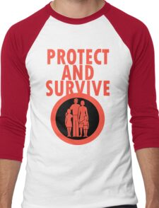 Protect And Survive Boy Men's Baseball ¾ T-Shirt