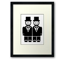 Gay Wedding Framed Print