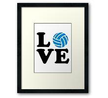 Volleyball love Framed Print
