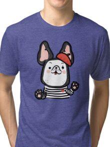 French Bulldog Mime Tri-blend T-Shirt