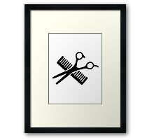 Comb & Scissors Framed Print