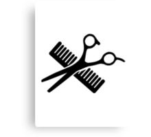 Comb & Scissors Canvas Print