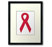 Aids ribbon Framed Print