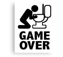 Game over puke toilet Canvas Print