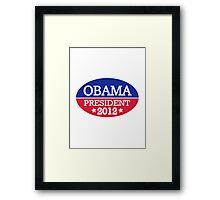 Obama President 2012 Framed Print