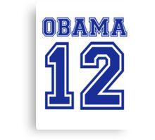 Obama 2012 Canvas Print