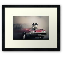 LOOSE Burnout Framed Print