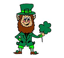 Leprechaun St. Patricks Day Photographic Print