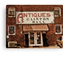 Antiques... Clinton Mall   #1 Canvas Print