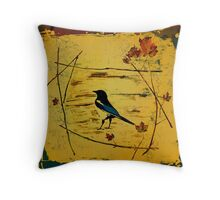 Magpie Framed In Maple Throw Pillow
