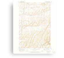 USGS Topo Map Washington State WA Burr Canyon 240288 1970 24000 Canvas Print