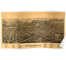 Panoramic Maps Watertown NY Poster