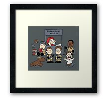 The Busters Are In! Framed Print