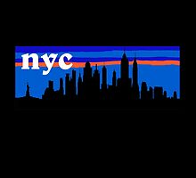 NYC, skyline silhouette by mustbtheweather