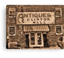 Antiques... Clinton Mall #3 Canvas Print