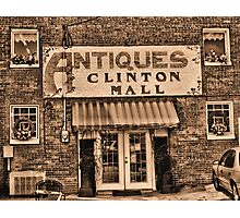 Antiques... Clinton Mall #3 Photographic Print
