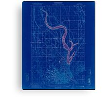 USGS Topo Map Washington State WA Moses Lake 242425 1912 62500 Inverted Canvas Print