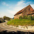 The old farm at Boarhunt by Drew Walker