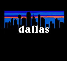 Dallas, skyline silhouette by mustbtheweather