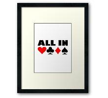All in poker Framed Print