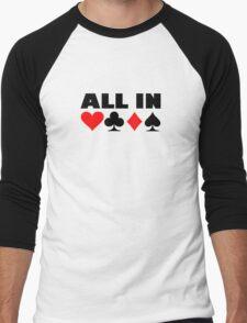 All in poker Men's Baseball ¾ T-Shirt