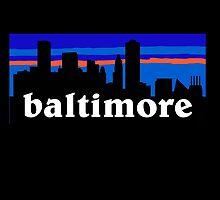 Baltimore, skyline silhouette by mustbtheweather