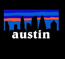 Austin Texas, Skyline silhouette by mustbtheweather
