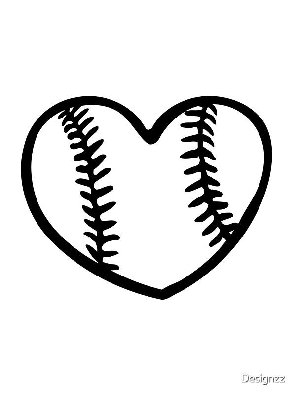 u0026quot baseball heart u0026quot  photographic prints by designzz